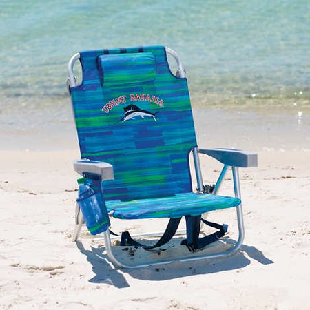 Tommy Bahama Backpack Beach Chair Green Stripe