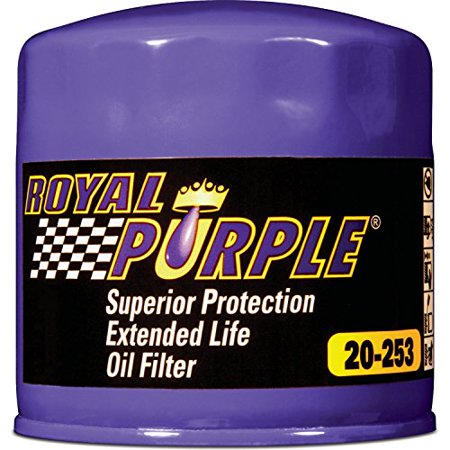 Royal Purple Extended Life Oil Filter 20-253, Engine Oil Filter for Alfa Romeo, Chrysler, Dodge, Ford, Mercury, Jeep, Land Rover, Nissan, Toyota, Triumph and Volkswagen