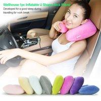 Wellhouse 1pc Inflatable U Shape Neck Pillow Detachable Neck Cushion Washable Travel Pillow For Head & Neck Care