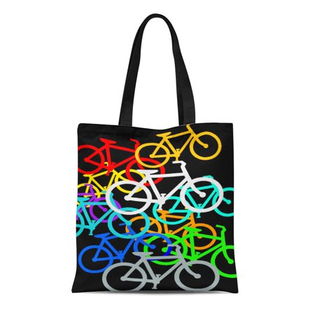 LADDKE Canvas Tote Bag Holland Bicycles Reusable Amsterdam Cycles Bikes Traffic Travel Cycling Reusable Handbag Shoulder Grocery Shopping