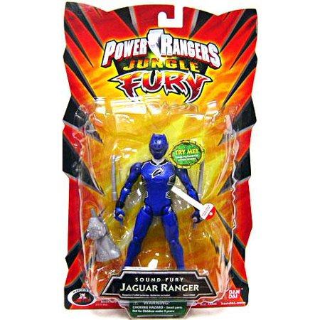 Power Rangers Jungle Fury Sound Fury Jaguar Ranger Action - Jungle Fury Blue Ranger