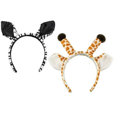 Super Soft Plush Wild Life Artist Wild Headbands Giraffe and Wild Life Artist Wild Zebra (Lime Giraffe)