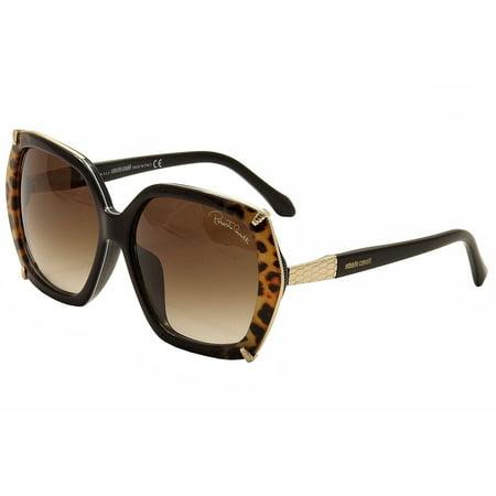 Roberto Cavalli Turais 993SD 993/SD 05F Black/Gold/Leopard Sunglasses (Roberto Cavalli Designer Sunglasses)