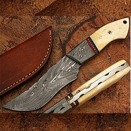 Damascus Steel Custom Handmade Hunting Knife Camel Bone (Best Damascus Hunting Knives)