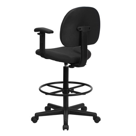 Ergonomic Dental Stool (Ergonomic Multi-Function Drafting Stool with Adjustable Arms, Black )