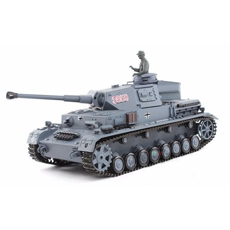 2.4Ghz Radio Remote Control 1/16 German Panzer IV F2 Airsoft Battle Tank w/Sound & Smoke R/C (Panzer Tank)