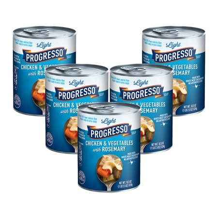 (5 Pack) Progresso Light Chicken and Vegetables With Rosemary Soup, 18.5