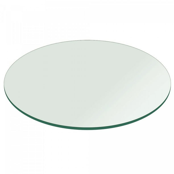 38 Inch Round Glass Table Top 1 4 Inch Thick Clear Tempered Glass With Flat Edge Polished Walmart Com Walmart Com