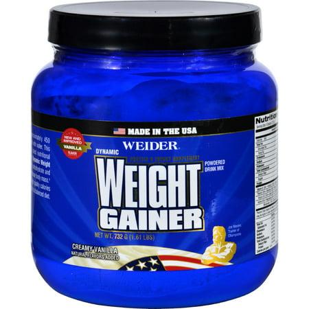 - Weider Global Nutrition Weight Gainer - Dynamic - Powder - Vanilla - 1.65 lb