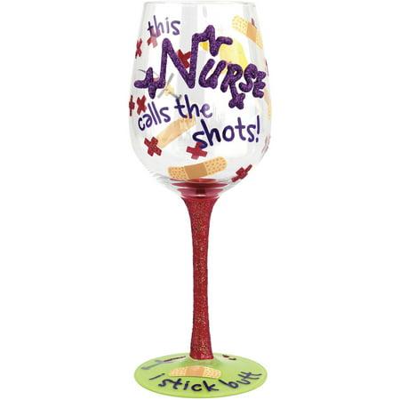 Stonebriar Top Shelf Nurse I Stick Butt Wine - Stock Glass