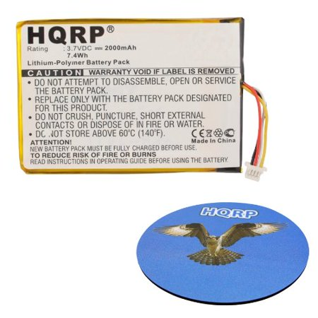 HQRP Battery for SkyGolf SkyCaddie SGX, SkyCaddie SGX-W GPS Range Finder Sky Golf Sky-Caddie SGX-GPS-0891 ENCPT505068HT GPS0320MG051 + HQRP