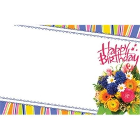 Floral Enclosure Cards (Design 88 79487 Enclosure Card - Happy Birthday Mixed)