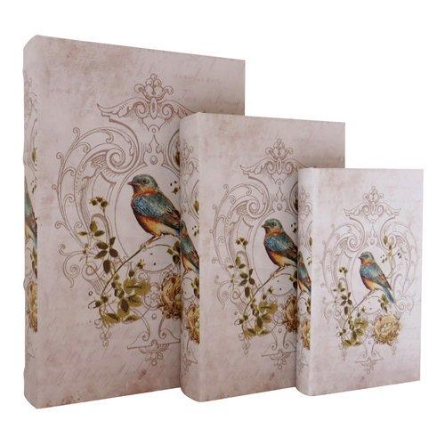 Jeco Inc. Rainbow Finch Storage Wood 3 Piece Decorative Box Set