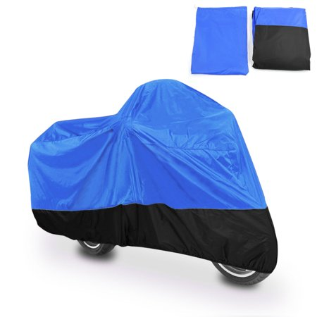 XXL 180T Blue+Black Motorcycle Cover For Harley Davidson Yamaha V-Star XVS 650 1100 Custom