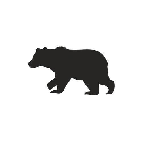 Alphabet Garden Designs Forest Critter Bear Chalkboard Wall Decal