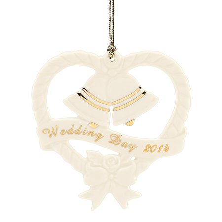 2014 Wedding Bells Ornament, Crafted of ivory china and gold accents By Lenox ()