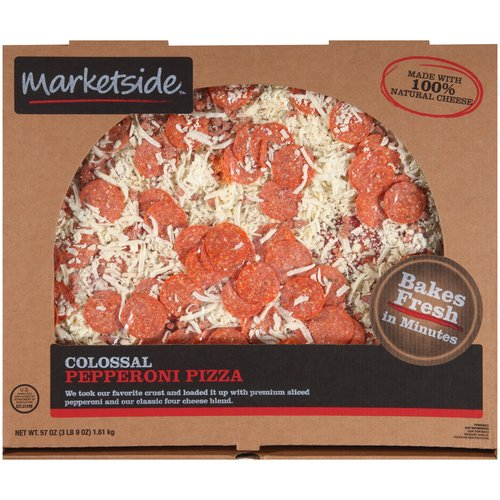Marketside Colossal Pepperoni Pizza, 57 oz - Walmart.com