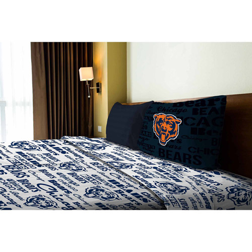 NFL Anthem Bedding Sheet Set, Bears