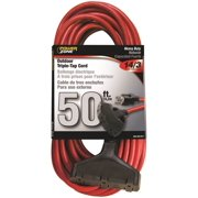 Power Zone Cord Ext 3Tap14/3X50Ft Blu/Yel OR614730/606730