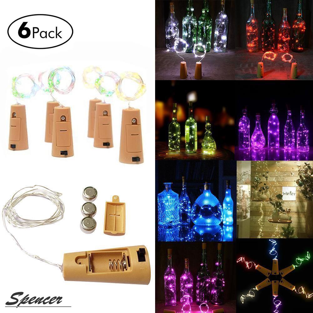 Celebration & Occasion Supplies christmas tree lights Wine Bottle Metal Cork Lights Copper 20LED Light Strips Rope Lamp For Xmas Decor
