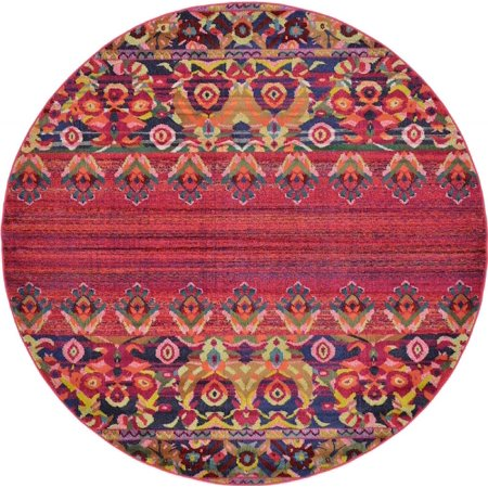 Traditional Dauphine Collection Area Rug in Scarlet and Rectangle, Round, Runner, Square Shape