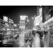 Buildings lit up at night  Times Square  Manhattan  New York City  New York  USA Poster Print (18 x 24)