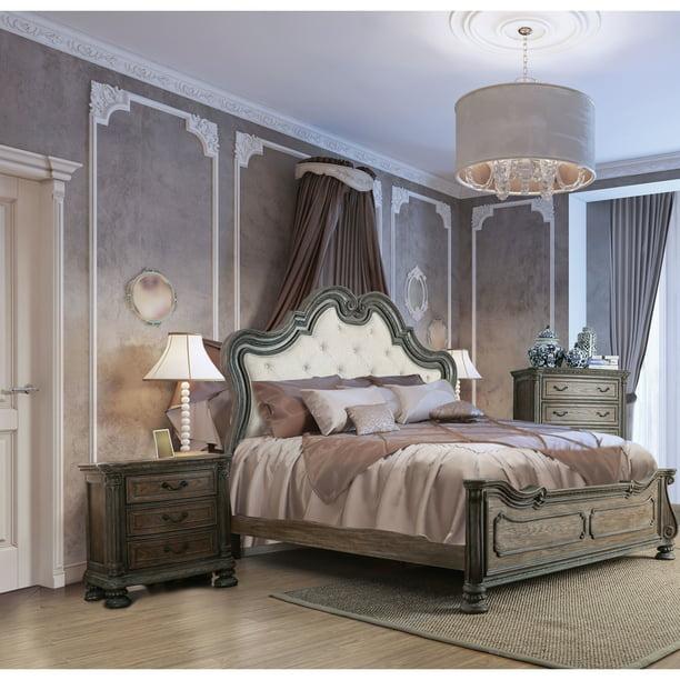 Furniture Of America Brey Rustic Brown 2 Piece Bedroom Set Walmart Com Walmart Com