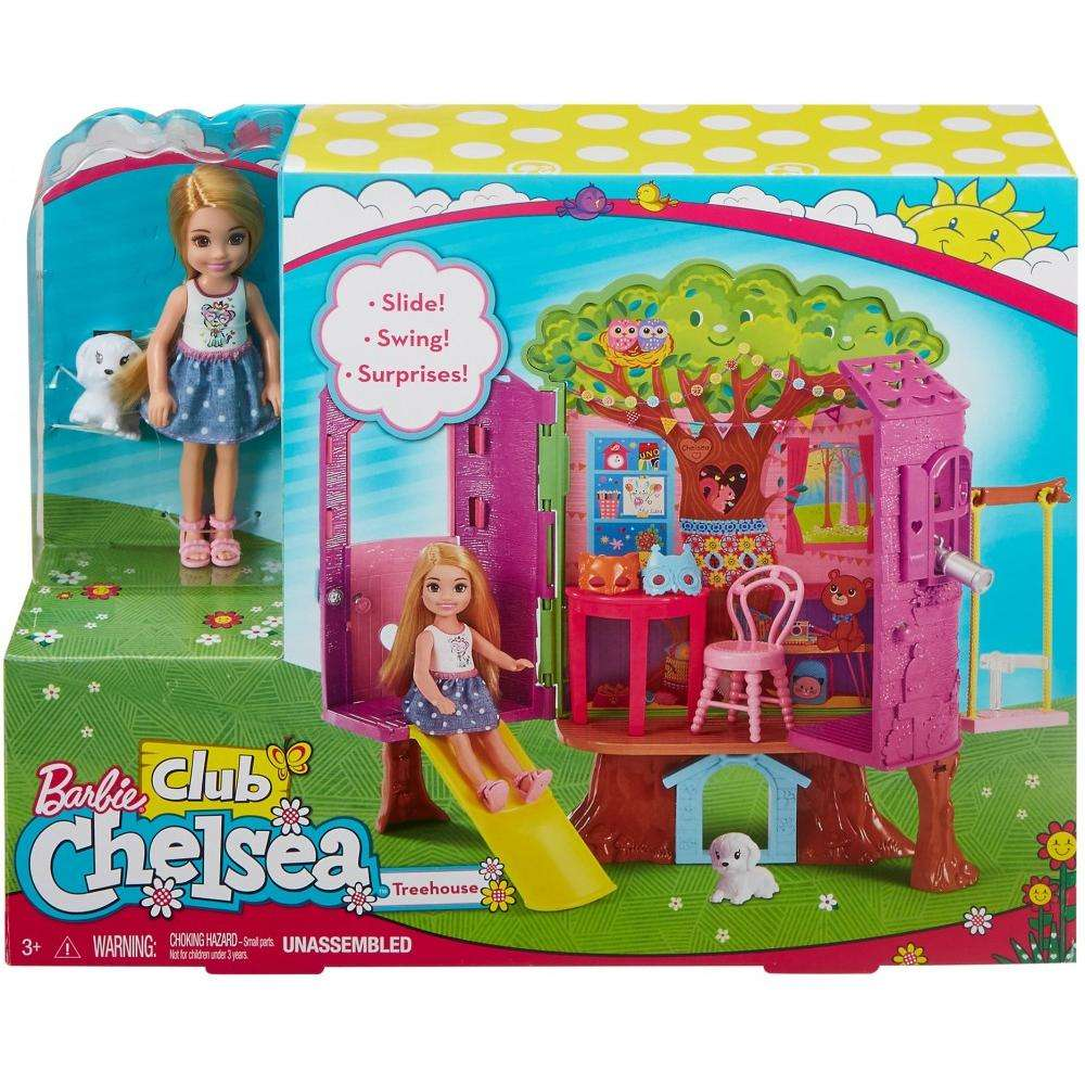 Barbie Club Chelsea Treehouse Dollhouse Playset with Accessories -  Walmart.com ef12c7f63