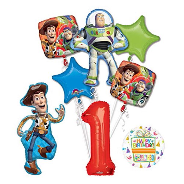 Toy Story 1st Birthday Party Supplies And Balloon Bouquet Decorations Walmart Com Walmart Com