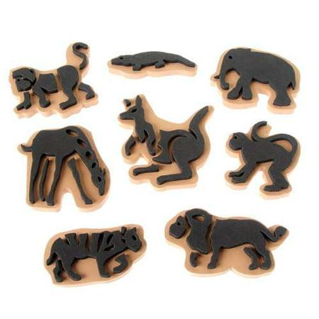 Jumbo Ink Wild Animal Stampers (Rolling Stamper)