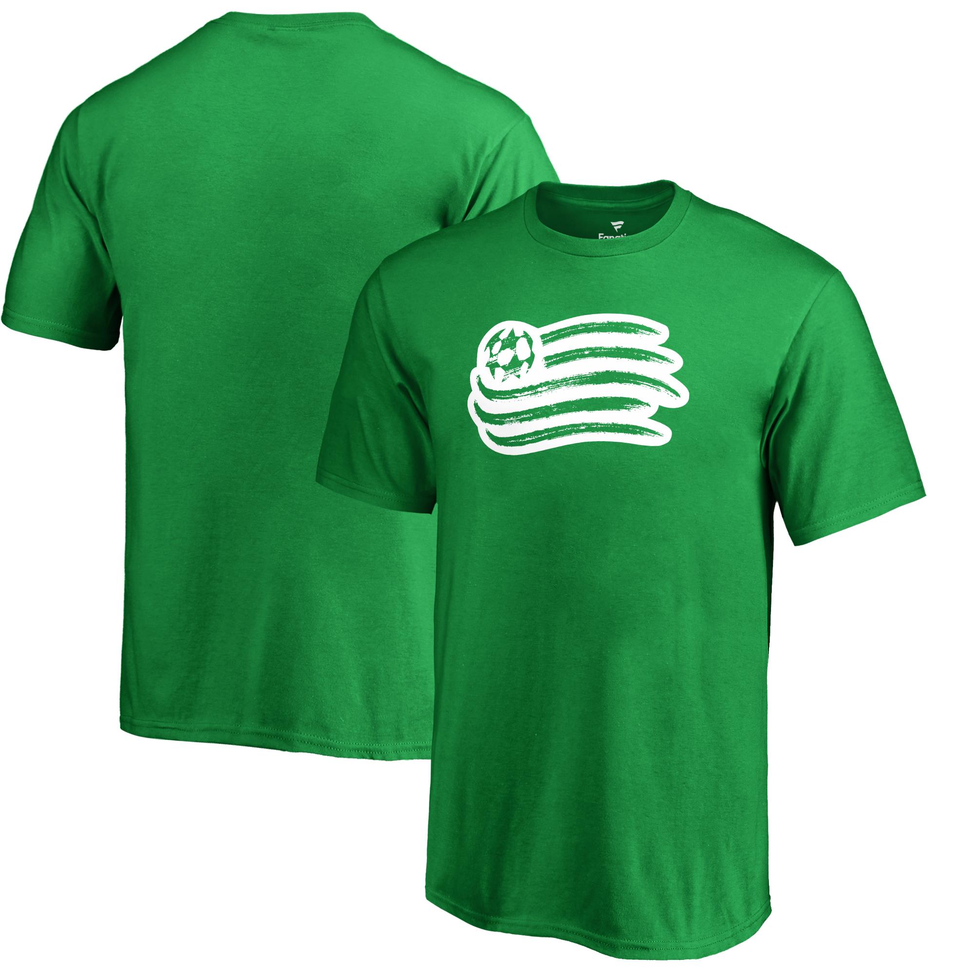 New England Revolution Fanatics Branded Youth St. Patrick's Day White Logo T-Shirt - Kelly Green