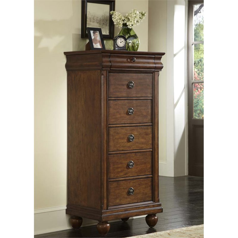 Liberty Furniture Traditions 6 Drawer Lingerie Chest in Cherry