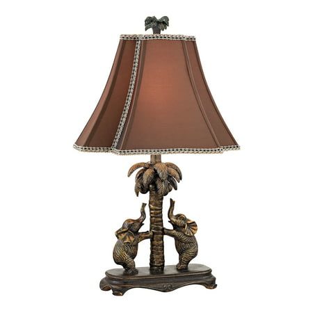 Elephants on Palm Tree Accent Lamp ()