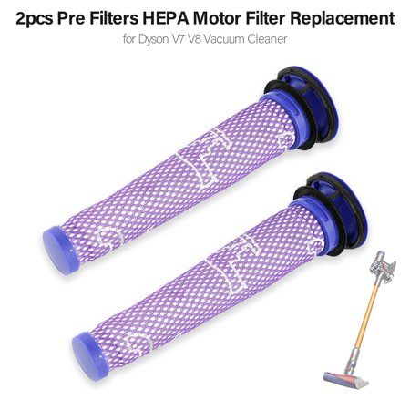 3pcs Pre Filters HEPA Motor Filter Replacement for Dyson V7 V8 Vacuum Cleaner - image 1 de 1