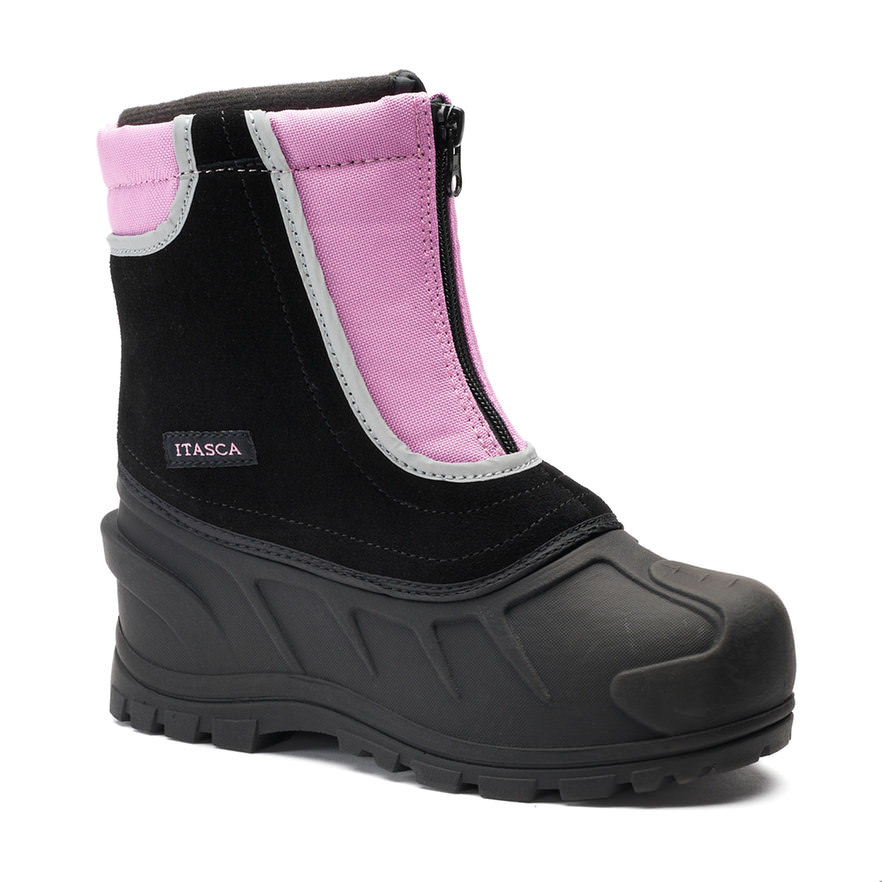 Itasca SNOW STOMPER Girls Pink Zip Up Warm Winter Snow Boots by Itasca