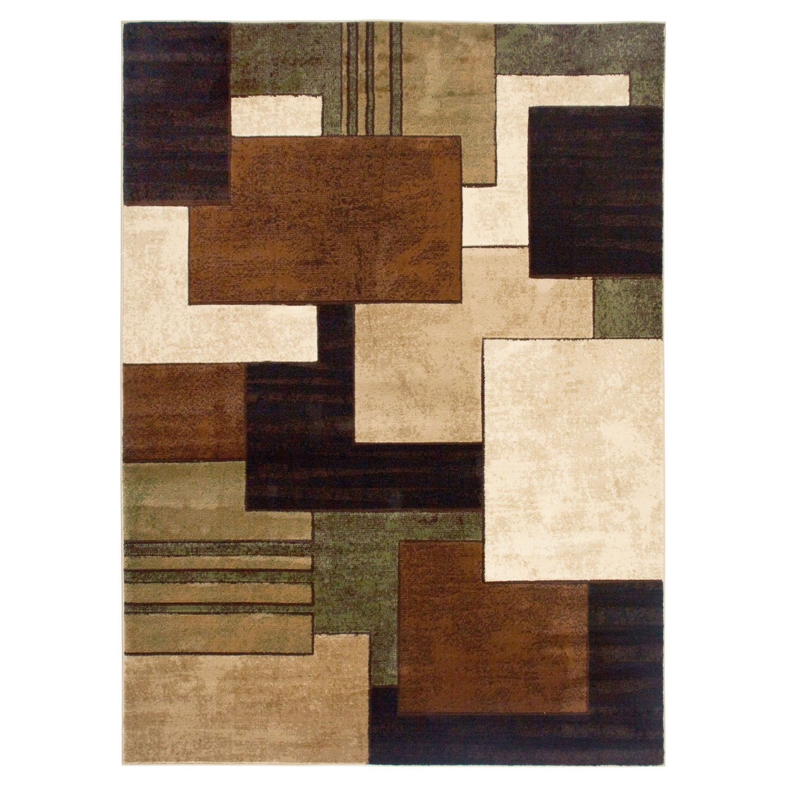 Home Dynamix Tribeca Collection Elegant Design High Quality Area Rug Runner, Brown/Green