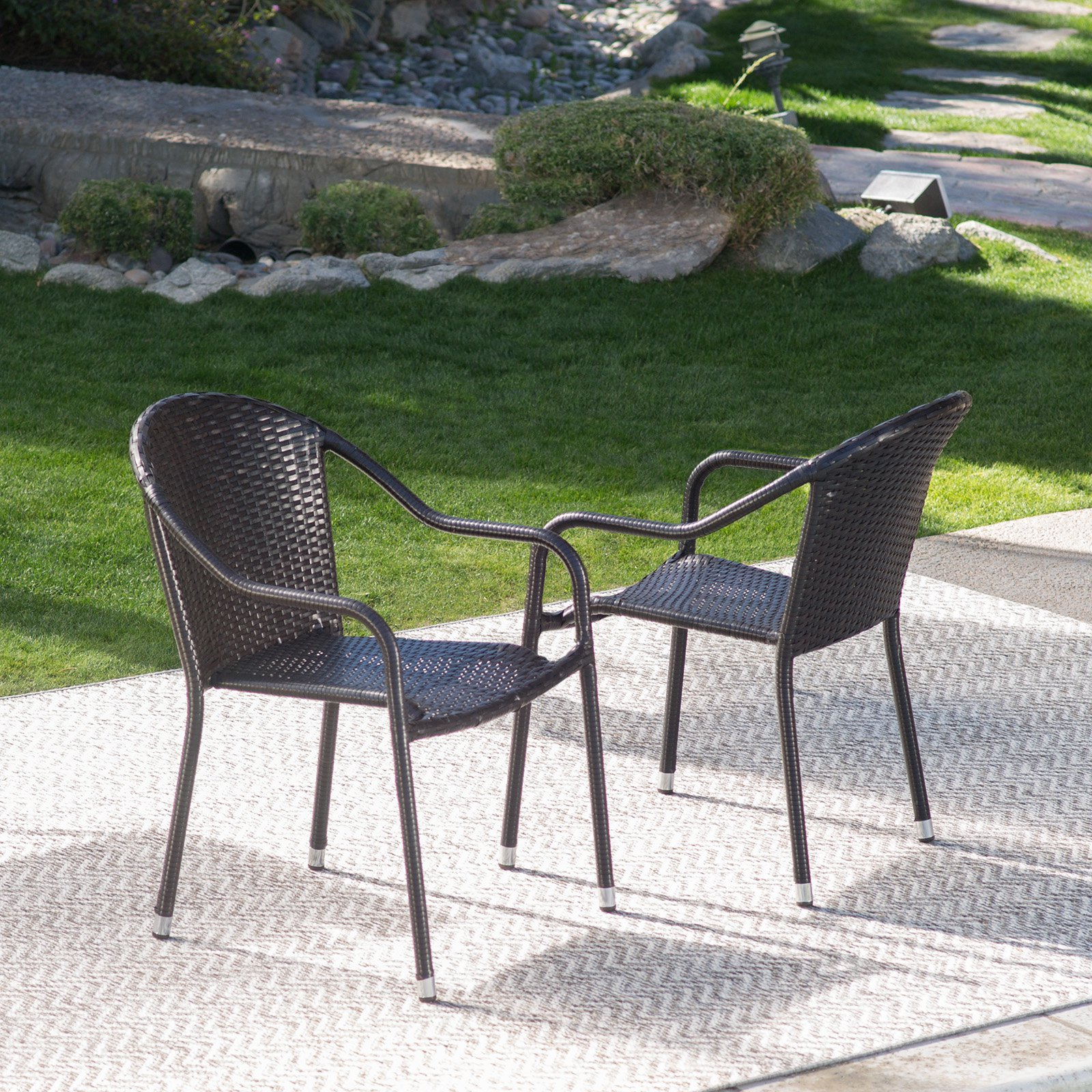 Coral Coast Berea Outdoor Wicker Stackable Chair by Modern Marketing Concepts, Inc.