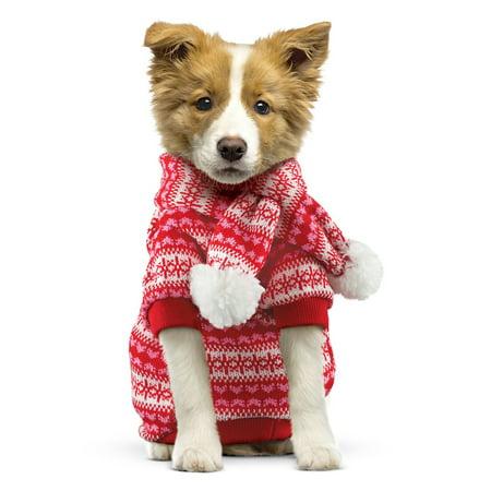 Dog Christmas Sweater.Dog Christmas Sweater And Scarf Set