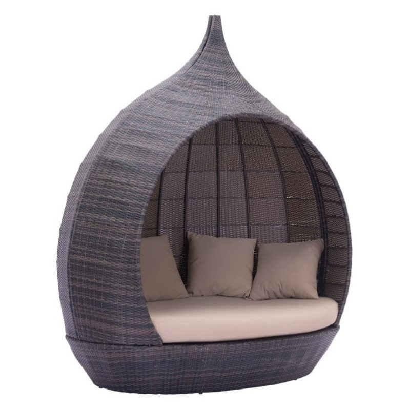 Zuo Martinique Beach Outdoor Daybed in Brown