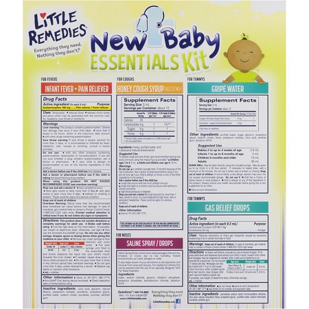 Little Remedies New Baby Essentials Kit New Babies to Age 2, 1.0 KIT