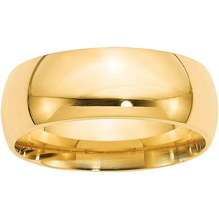 Ring Guards Yellow Jewelry - 14k 8mm Comfort-Fit Band