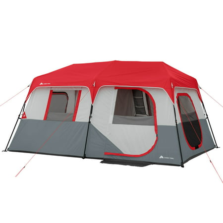 Ozark Trail 8 Person Instant Cabin Tent with LED Lighted Poles and Bluetooth Speaker ()