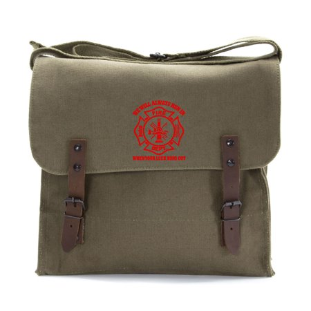 We Will Always Run in When Your Luck Has Run Out Army Canvas Medic Shoulder