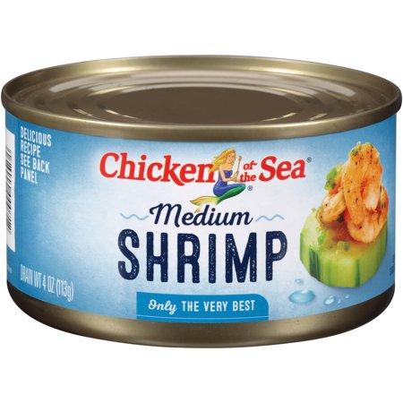 Chicken of the sea medium shrimp 4 oz for Sea city fish and chicken