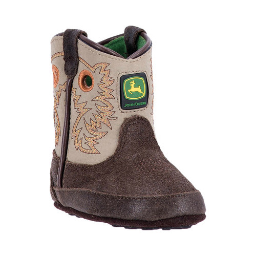 Infant John Deere Boots Johnny Popper Crib Bootie 0417 by John Deere