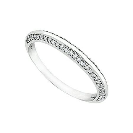 Cubic Zirconia Wedding Ring in Sterling Silver 0.25.ct.tw - image 1 de 2