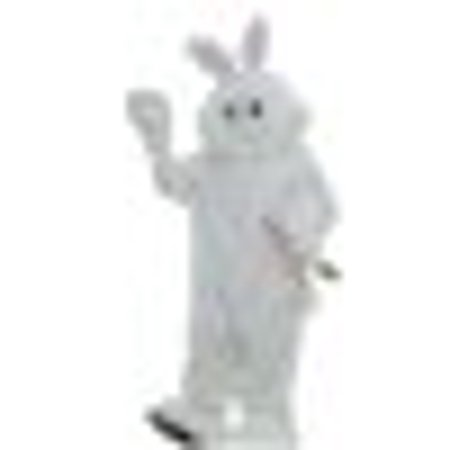 Forum Deluxe Plush Bunny Rabbit Mascot Costume, White, One Size - Panda Mascot Suit