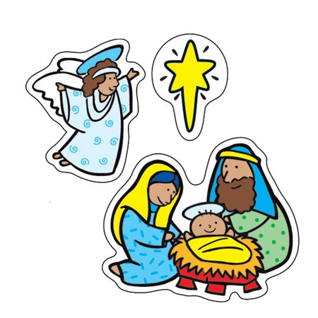 THE NATIVITY STICKERS 186 PER PK - Nativity Stickers