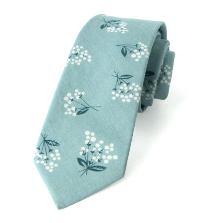 Nylon Print Tie - Spring Notion Men's Floral Print Cotton Skinny Tie