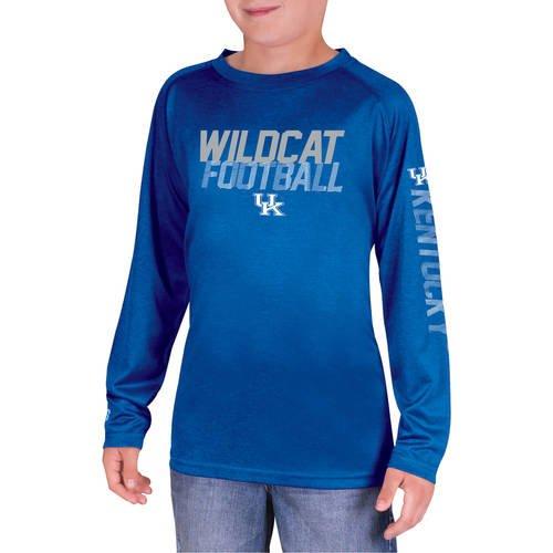 NCAA Kentucky Wildcats Boys Long Sleeve Impact T-Shirt